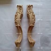 4PCS LOT European Wood Carving Cabinet Foot Bed Feet Sofa Legs Coffee Table Legs Furniture Legs