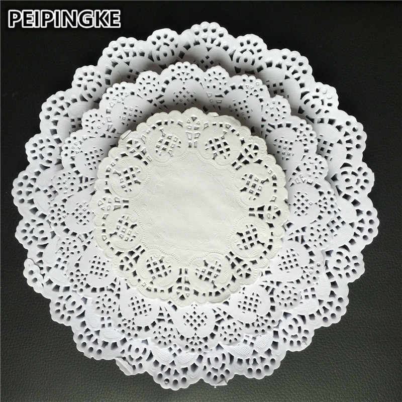 """Off White Round Paper Doilie 8.5/"""" 21.5cm Wedding Craft Scrapbooking Grease Proof"""