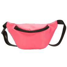 Waist Bag Waterproof Children's Waist Belt Bag Large Capacity Coin Purse Snack Pack Casual Solid Color Bananos Mujer Cintura