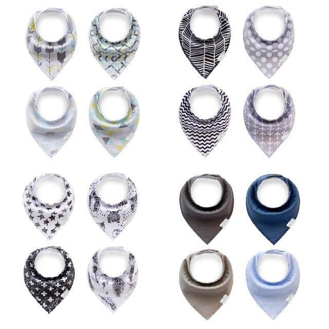 Owlzz New Styles Baby Bibs 4pcs A Lot Boy Girl Accessori Brand Saliva Towel Burp Cloths Triangle Cotton Bandana