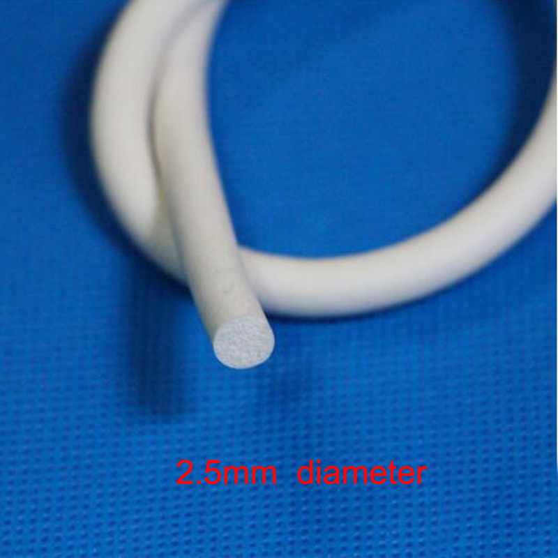 2 5mm diameter White round silicone rubber cord foam seal strip weatherstrip in Sealing Strips from Home Improvement