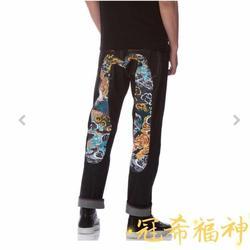 2019 Autentico Evisu Nuovo Superiore di Modo di Qualità Casual Hip Hop Dei Jeans degli uomini Del Ricamo degli uomini di Stampa Traspirante Pantaloni Dritti