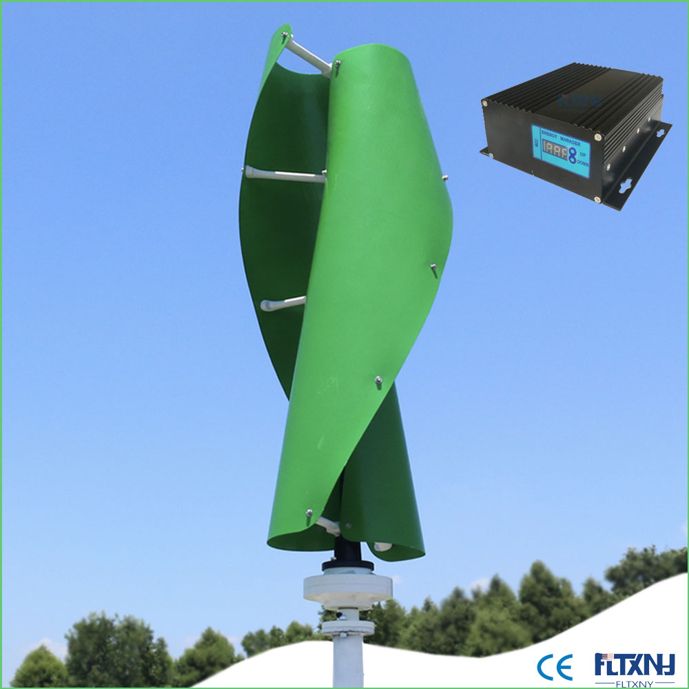 800 w turbina di vento avviato a 1. 3 m bianco orange verde maglev generatore di vento 800 w 24v48v verticale con regolatore DI carica MPPT