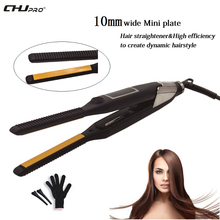 CHJ 2 in 1 Ceramic Hair Straightener cm LCD Display Flat Iron MCH Heater Professional Straightening Salon Styler Tools