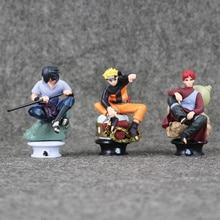 Naruto Figure 6pcs/set 8cm Uzumaki Naruto Sasuke Gaara Kakashi Chess Action Figure Collection