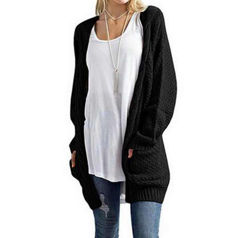 LITTHING длинный женский кардиган рукав вязаный свитер кардиган осень зима женские s свитера 2018 Джерси Mujer Invierno