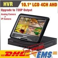 Обновленный P 10,1 P рекордер дюймов 720 Дюймов lcd CCTV 4CH DVR/HVR/NVR/SDVR 4 канала видео рекордер поддержка аналоговой камеры IP камера