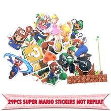 29pcs Super mario cartoon kids toys DIY scrapbooking album Luggage Laptop Motorcycle notebook decal Waterproof Stickers E0062
