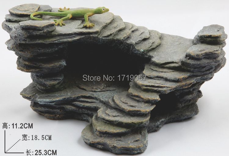 Fish Rock Aquarium Resin Rockery Fish Tank Hiding Cave