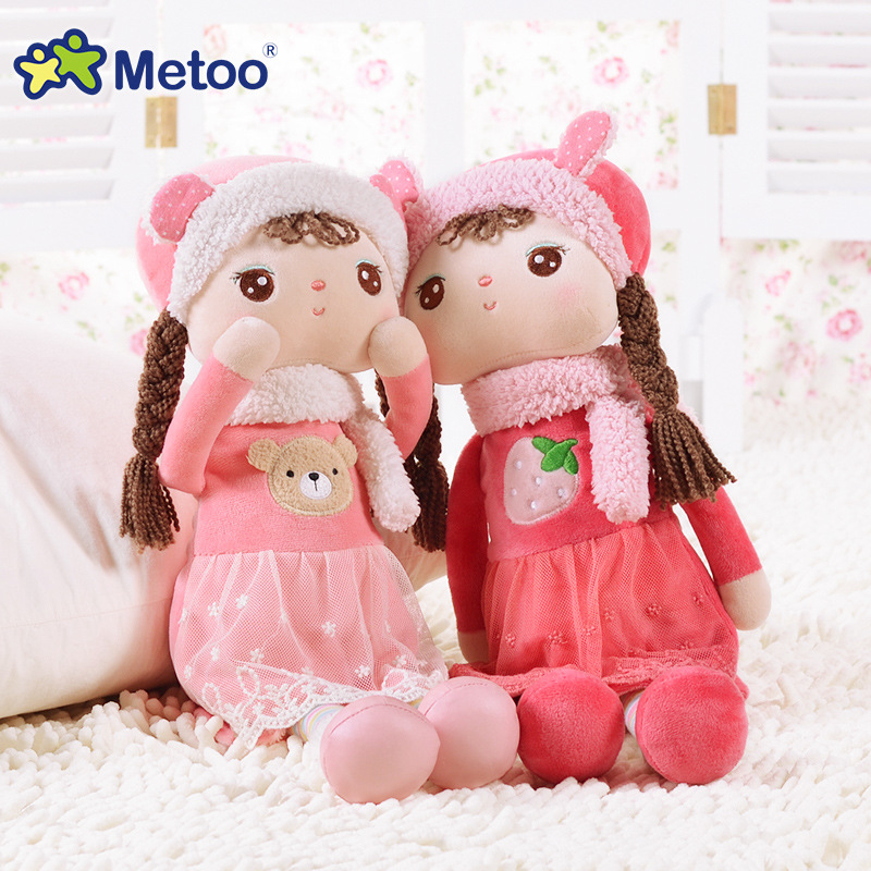 Plush Sweet Cute Lovely Stuffed Baby Kids Toys For Girls Birthday Christmas Gift 10.5 Inch Angela Winter Edition Girl Metoo Doll