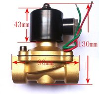 1 2W Series 2/2 way Normally Close brass Solenoid Valve with AC220V power, 24 hours working,engergy saving