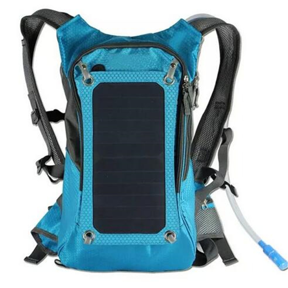 New High quality 6V Solar Panel Battery Charging Travel Backpacks Tourism Bags USB Output Charger Backpack Bag