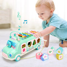 Musical Toys Music Knocking Piano Bus Intellectual Development Educational Toys for Kids Children's Musical Instruments Gift(China)