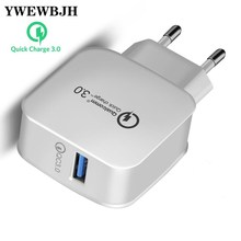 YWEWBJH USB Charger for iPhone Xs X 8 7 Fast Phone Samsung Universal 3.0 Wall  Mobile Charge