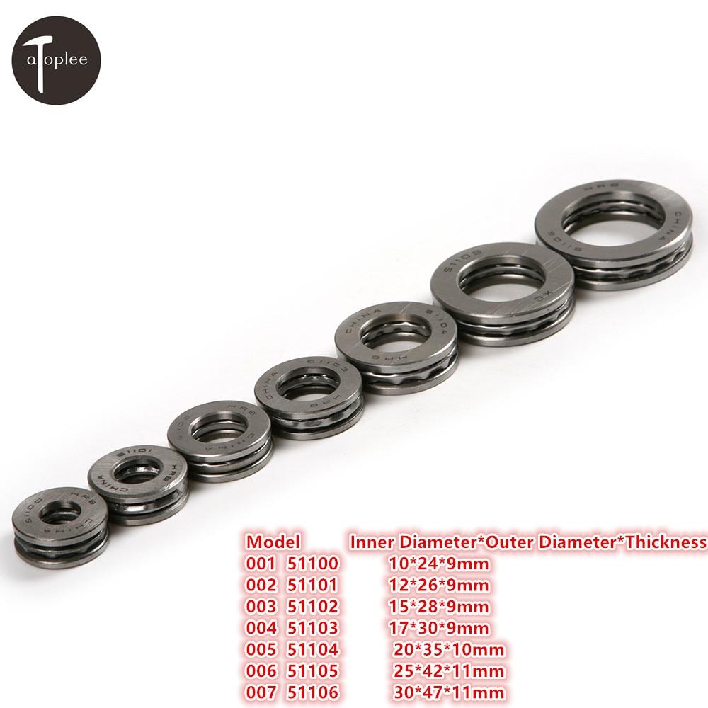 1pc High Precision Miniature Thrust Ball Bearing Metal Axial Fast Speed Ball Bearing 10mm/12mm/15mm/17mm/20mm/25mm/30mm Optional