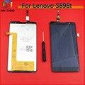 Tela de lcd com tela de toque digitador assembléia para lenovo s898t ferramentas gratuitas frete grátis