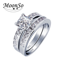 Real 925 Sterling Silver Ring Finger CZ Diamond For Women Jewelry Pure Wedding Engaegemnt 100 Wholescale