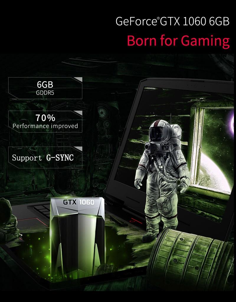 HTB1 PX4aXTM8KJjSZFlq6yO8FXaA BBen G16 15.6'' Laptop Windows 10 Intel i7 7700HQ GTX1060 16GB RAM 256GB SSD 1T HDD Metal Case Backlit Keyboard IPS WiFi BT4.0