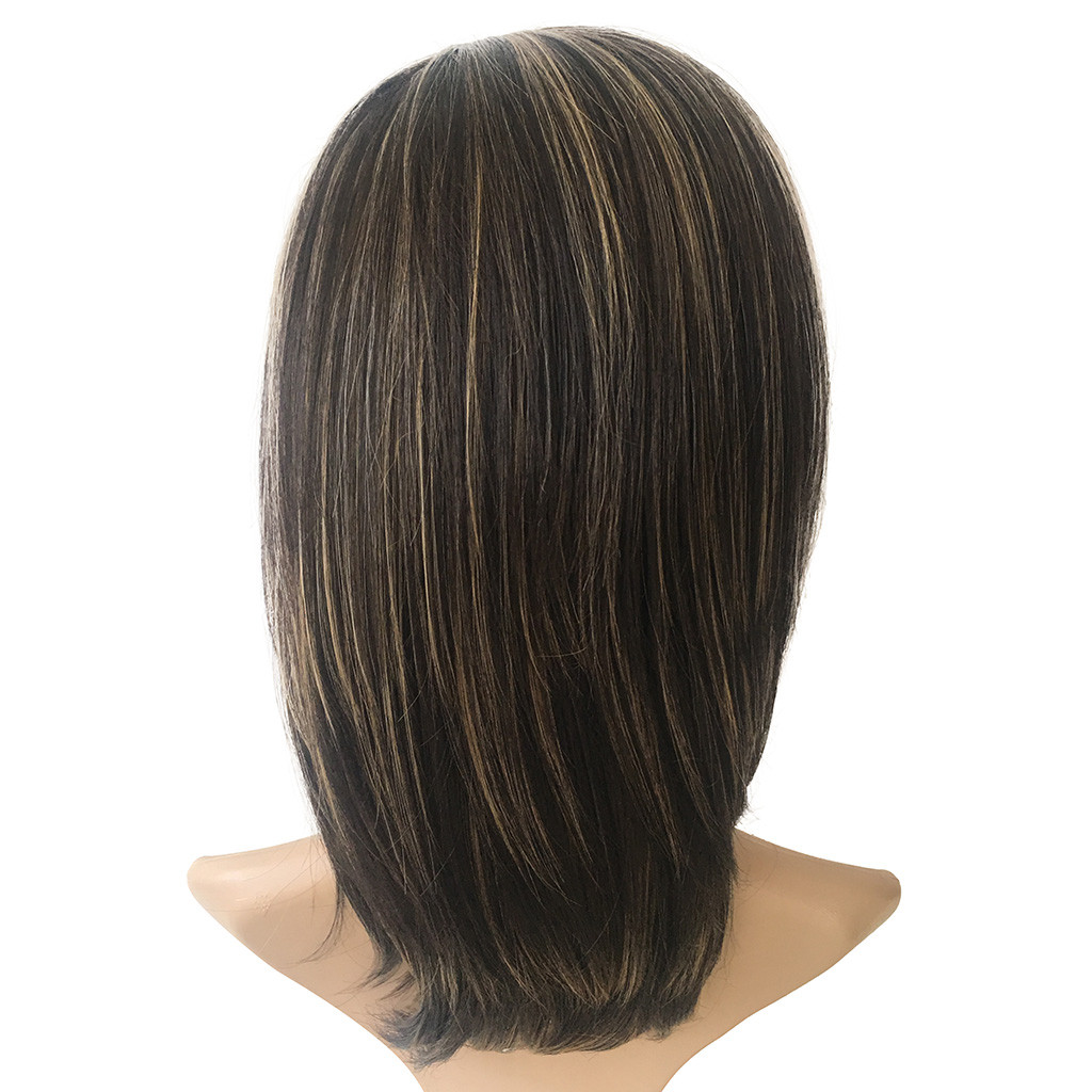 Naturally Gorgeous Women Fashion Synthetic Medium Long Straight Brown Hair Wig Natural Hair Full Wigs Gift Dropshipping