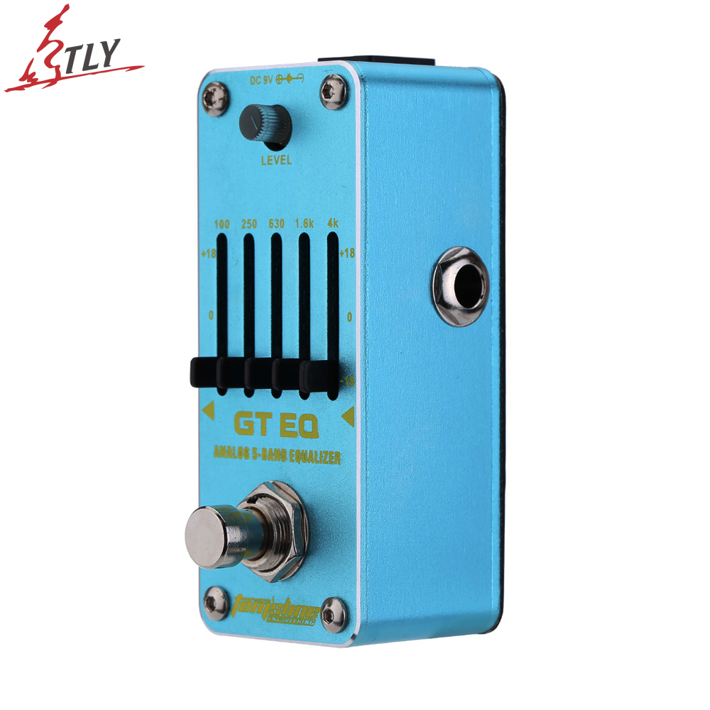 AROMA AEG-3 GT EQ Analog 5-Band Equalizer Electric Guitar Effect Pedal Aluminium Alloy Mini Single Effect Freeshipping joyo eq 307 folk guitarra 5 band eq acoutsic guitar equalizer high sensibility presence adjustable with phase effect and tuner