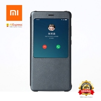 Xiaomi Redmi Note 4X Case Original Redmi Note4X Case Cover Intelligent Display Protective Cover Magnetic PU