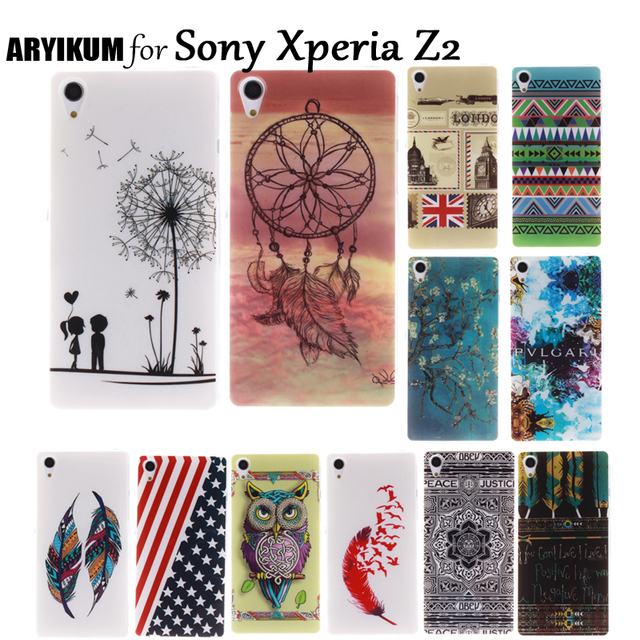 ARYIKUM Mobile Phone Cases For etui Sony Xperia Z2 D6503 D6502 Sony Z2 Case Silicone Back Cover Coque For Sony Experia Z2 Funda