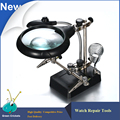 5X / 8X Magnifying Glass with 5 led for watch Repairing 3 in 1 Hand Welding Magnifying Glass for watchmaker
