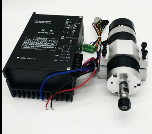 ER11 600W brushless spindle high speed air-cooled spindle kit directly inserted 220V can be used.ER11 600W brushless spindle high speed air-cooled spindle kit directly inserted 220V can be used.