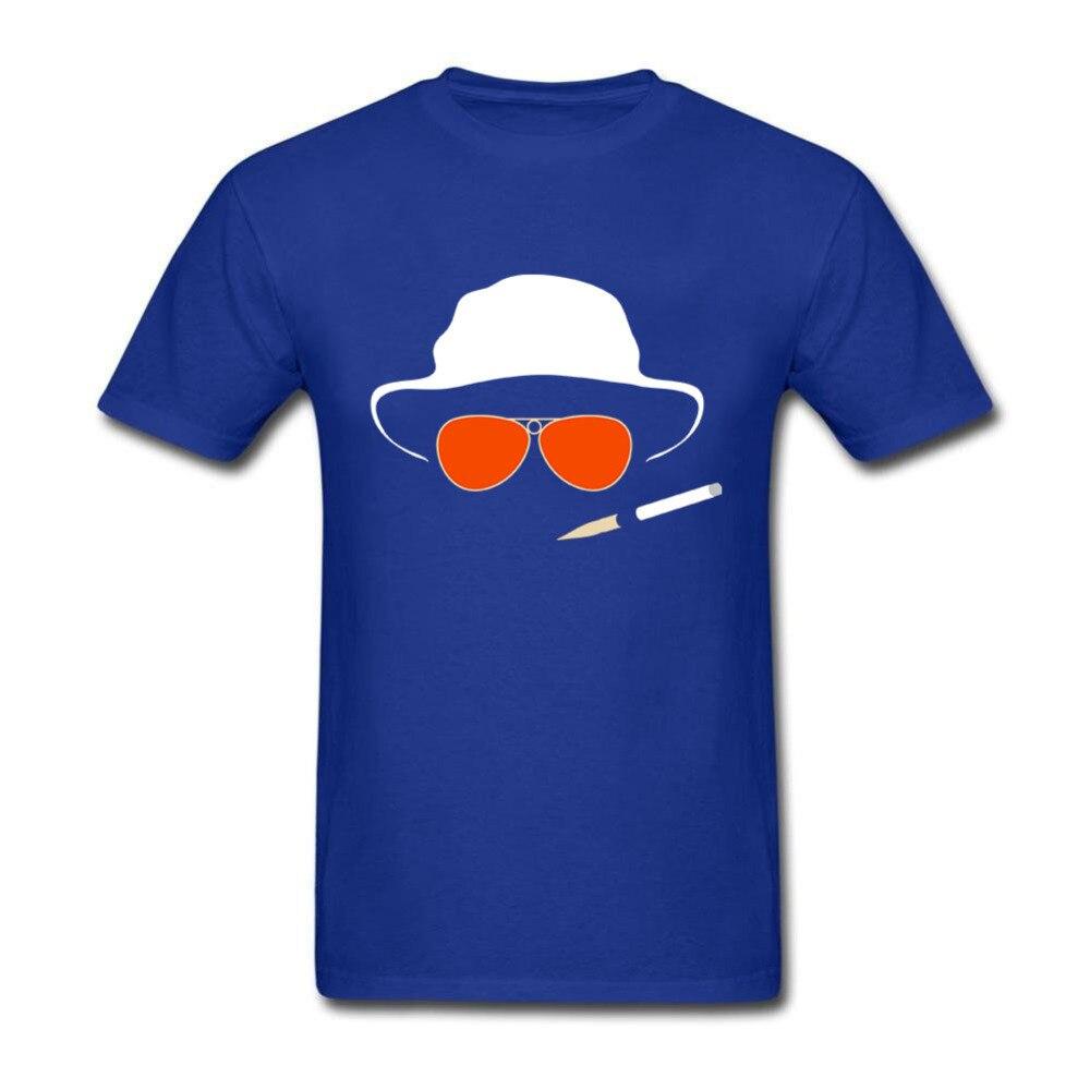 Классная футболка для взрослых шляпа и очки футболки с страх и ненависть в Лас-Вегасе Для мужчин рубашка с принтом Костюмы ...