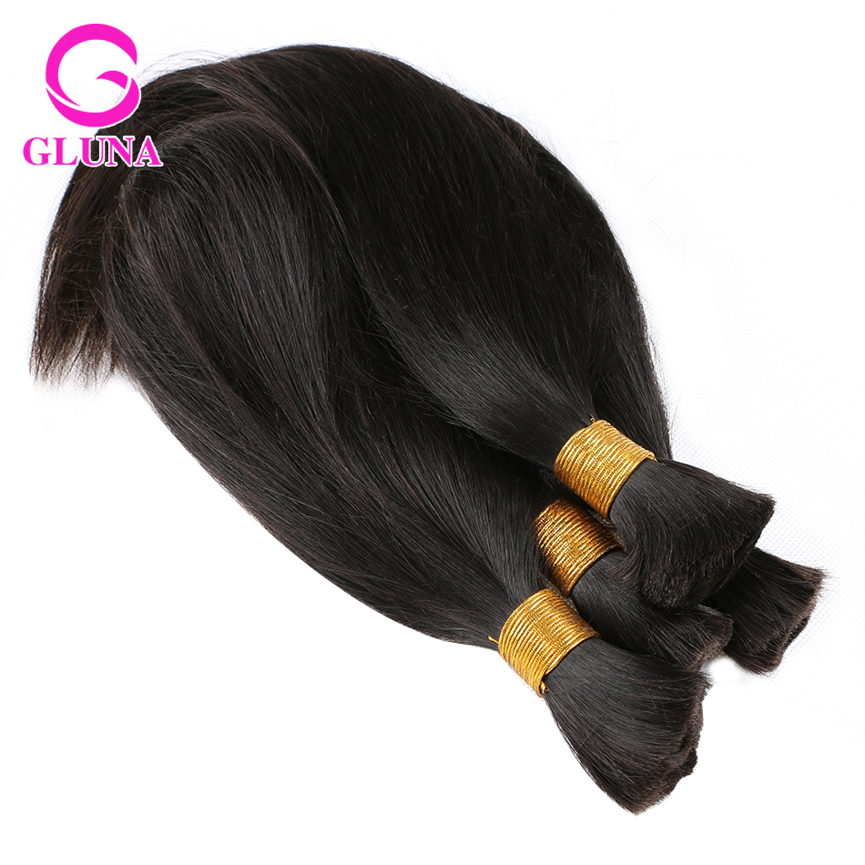 Mixed Length 4bundles Virgin Brazilian Hair Bulk Braiding
