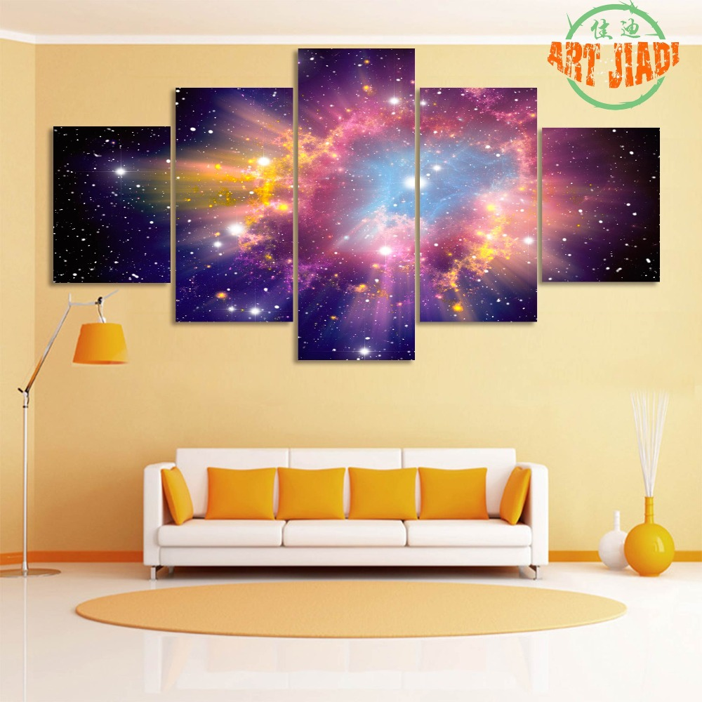 New 4 5 Piece/set Canvas Art The Cosmic Heart Empty Dream Color ...