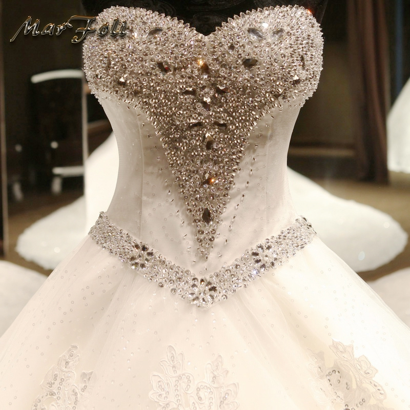 Marfoli rochii de mireasa de lux 2017 cu margele si dantelă rochie - Rochii de mireasa - Fotografie 4