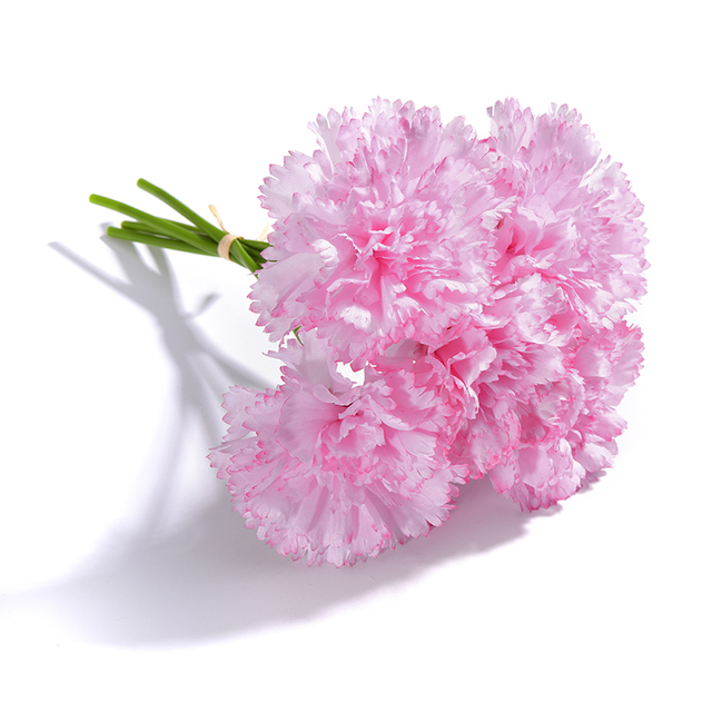 5 heads DIY Fresh Artificial Flower Carnation Silk Flower Fake plant     5 heads DIY Fresh Artificial Flower Carnation Silk Flower Fake plant for  Mother s Day flower wedding