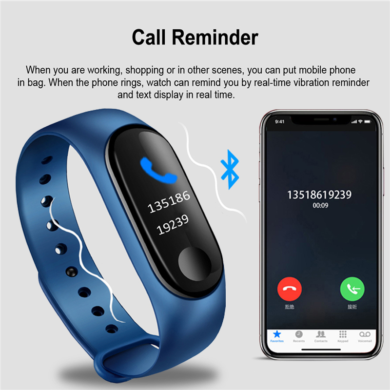 2019 New Sport Waterproof Smart Bracelet Heart Rate Blood Pressure Monitor Smart watch Fitness Tracker Pedometer PK mi band 4 in Smart Wristbands from Consumer Electronics