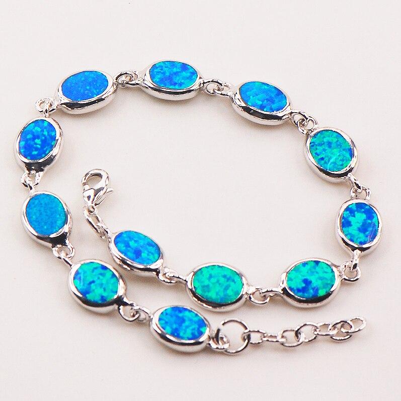 Синий огненный опал 925 серебро браслет p82 8 Бесплатная доставка высокое количество заводская цена