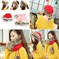 Women Winter Hat Fur Cap Warm Plus Velvet Dual Use Hats Thicken Knitting Caps