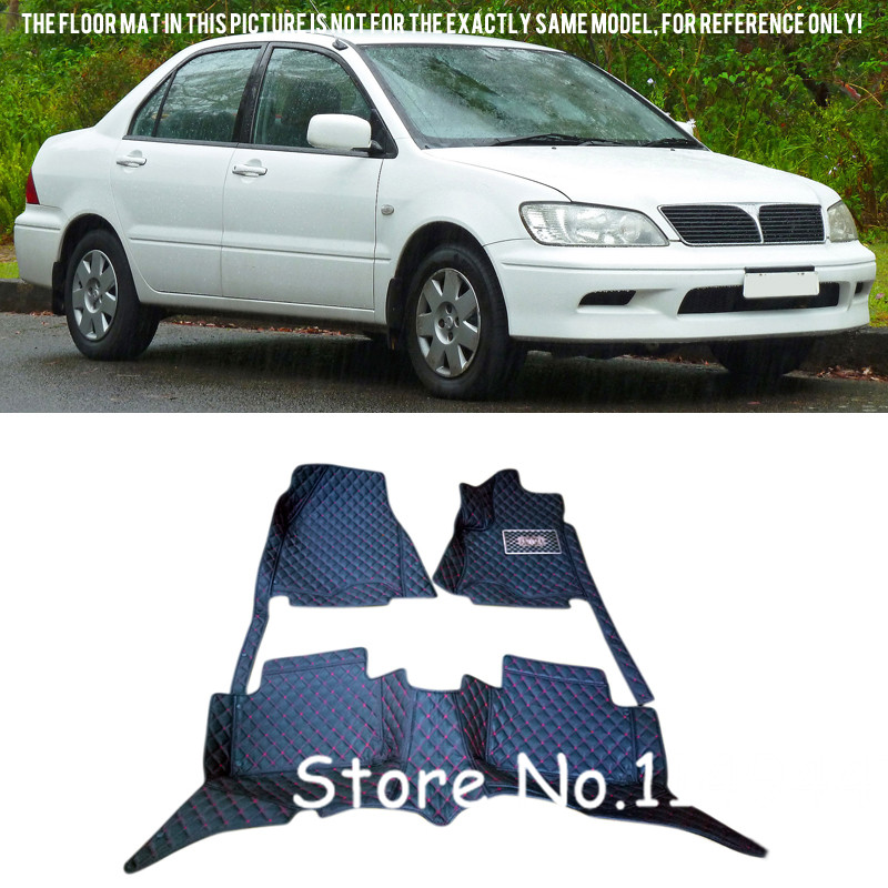 For Mitsubishi Lancer 2001 2001 2002 2003 2004 2005 2006 Interior Black Leather Foot Floor Mats & Carpets