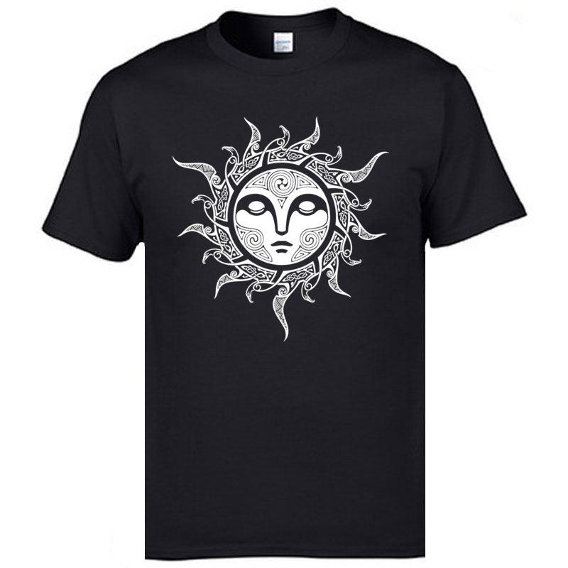 YULE. MIDWINTER SUN O Neck T Shirts ostern Day Tops Tees Short Sleeve Fashion All Cotton Casual Tops & Tees Comics Mens YULE. MIDWINTER SUN black