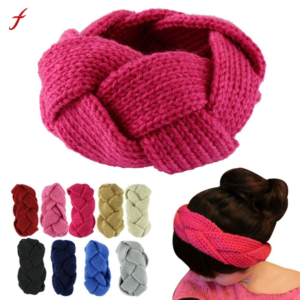 Headbands For Women Crochet Twist Knitted Headband Winter Warmer Hair Band Hair Accesories Turban Headband