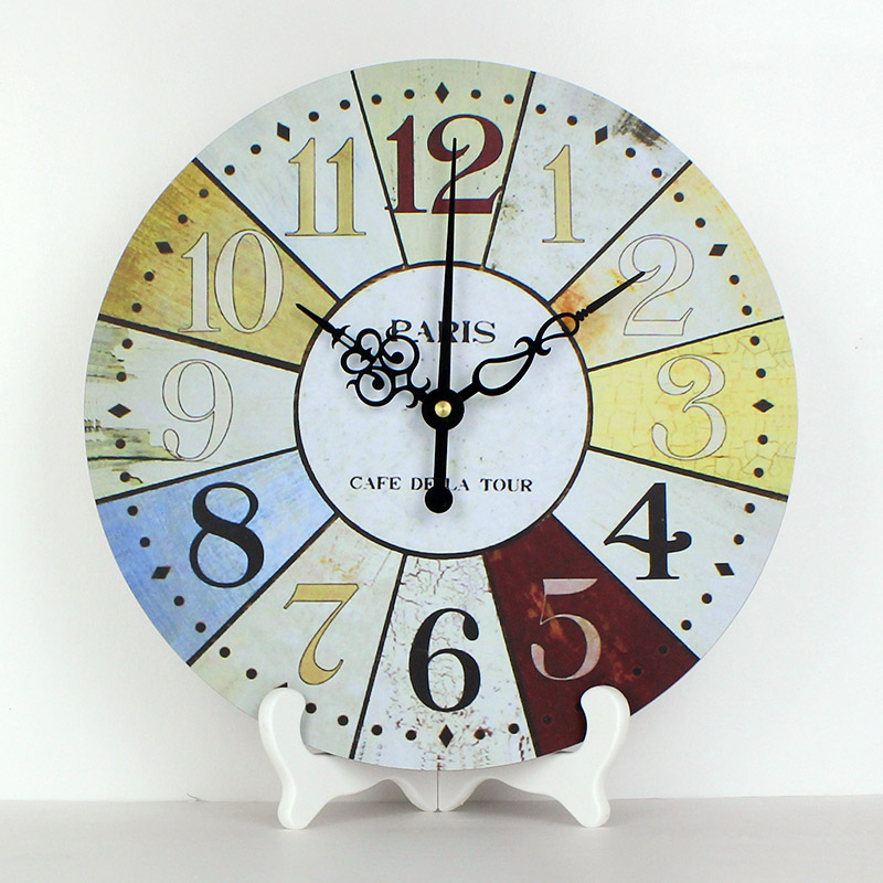 wholesale 12 French Country Tuscan Style Paris desk clocks more quite frozen bedroom decorative table clocks watch best gift