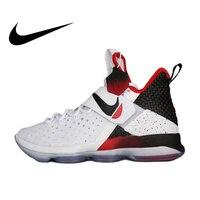 Оригинальный Nike Оригинальные кроссовки Линдона Джонсона Леброн XIV EP LBJ14 Для мужчин дышащие баскетбольная обувь Спорт голяшка средней высот...