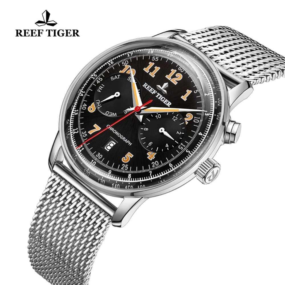 שונית טייגר/RT קלאסי בציר לאנשי עסקי פלדת צמיד פונקציונלי אוטומטי שעונים Relogio Masculino 2019 RGA9122