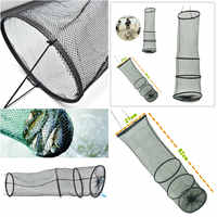 New 3 Layers Collapsible Fishing Basket Dip Net Fishing Cage to Keep Fish Alive in the Water 82cm Fishing Accessories Tool