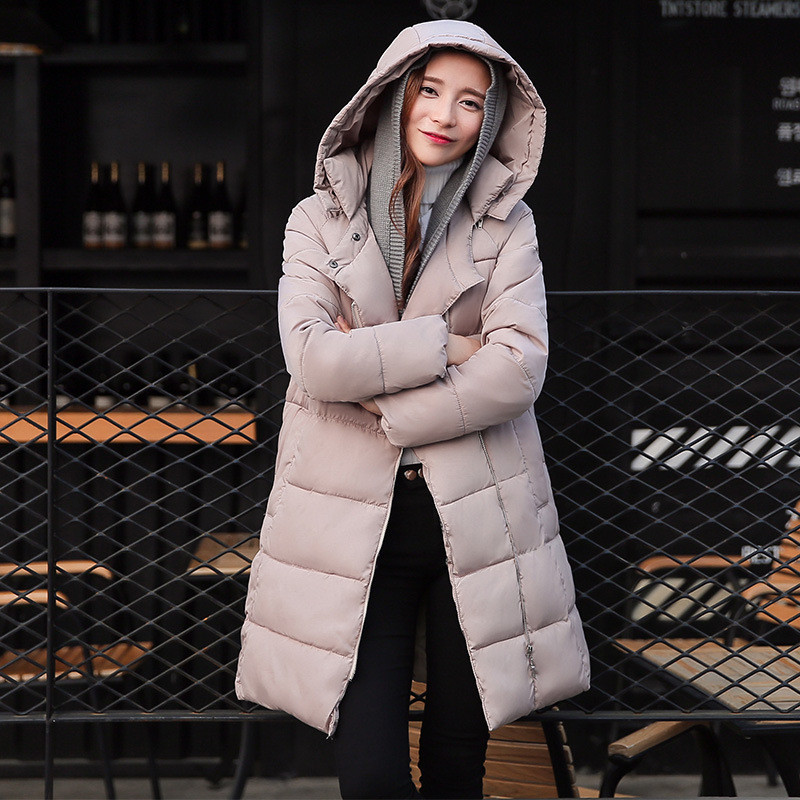 ФОТО Thicker cotton-padded jacket large size Winter coat women long slim parkas for women winter women winter clothing TT231