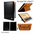 Kaku original de couro caso inteligente para ipad 5 ipad air 1 elegante coldre suporte auto wake/sleep para ipad5 ipad air1 tampa caso