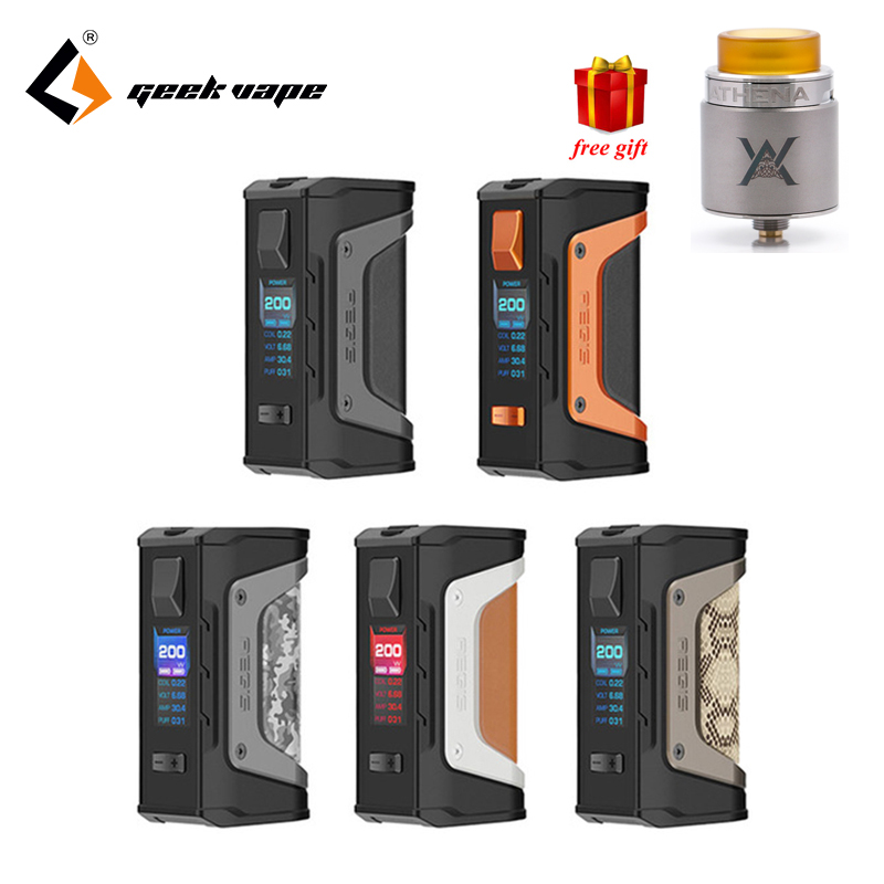 Бесплатный подарок GeekVape Aegis mod aegis Legend 200 Вт TC поле MOD создано Двойной 18650 батареи электронной сигареты без Батарея для Зевса rta Блитцен