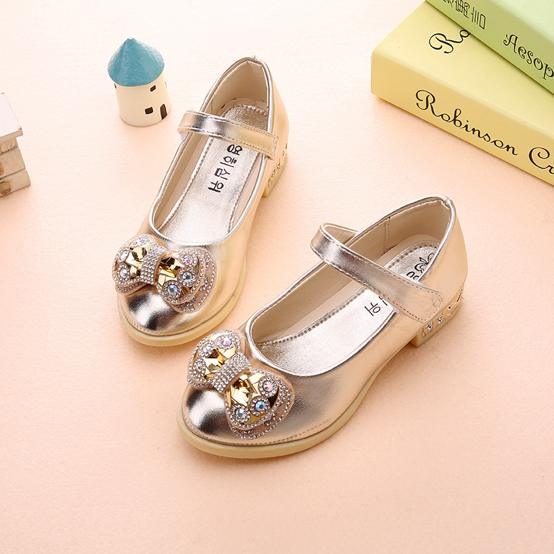 Spring-new-girls-Party-high-heeled-wedding-Leather-shoes-diamond-princess-bow-dance-shoes-Pink-gold-size-26-36-for-big-girls-2