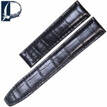 Pesno for Maurice Lacroix 20mm Black Crocodile Leather Watch Band Genuine Leather Watch Strap Men Accessories