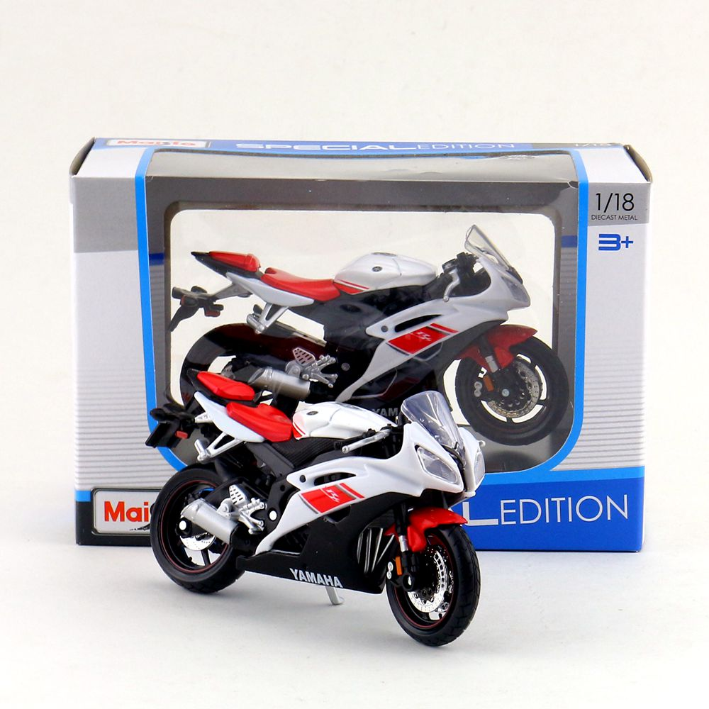 maisto 1 18 scale diecast model motorcycle toy 2008 yamaha. Black Bedroom Furniture Sets. Home Design Ideas