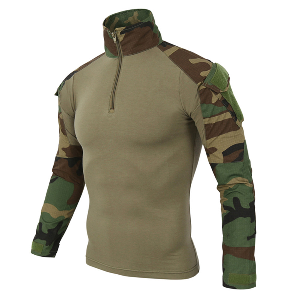 Camouflage Army T-Shirt Men US RU Soldiers Combat Tactical T Shirt Military Force Multicam Camo Long Sleeve T Shirts